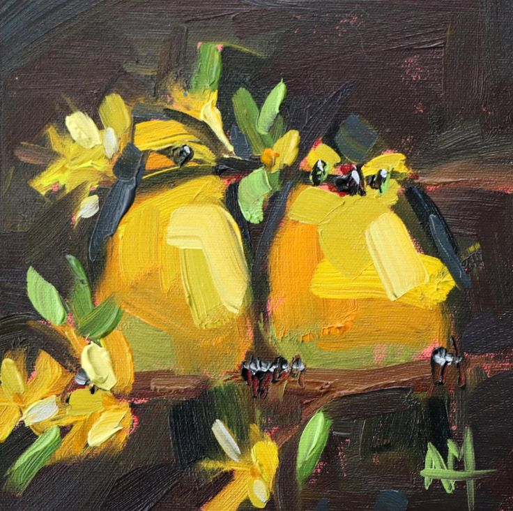 Two Kentucky Warblers Original Oil Painting by Angela Moulton