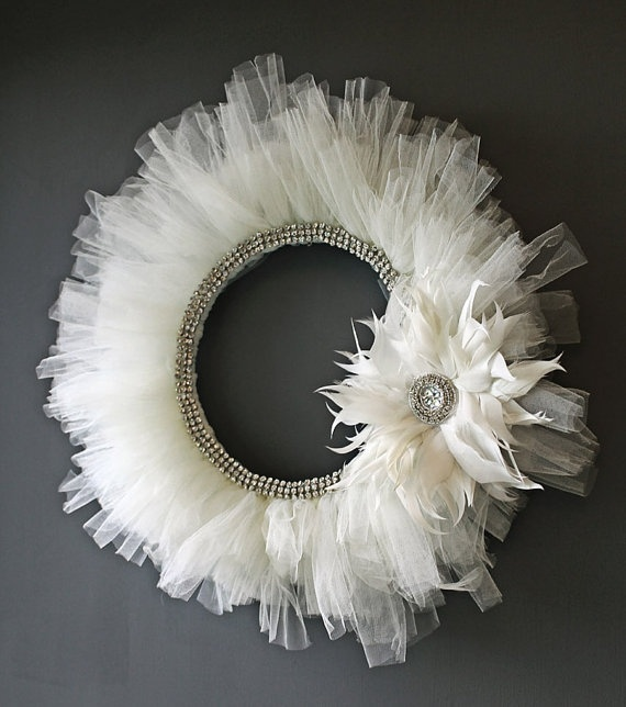 Tulle wreath.