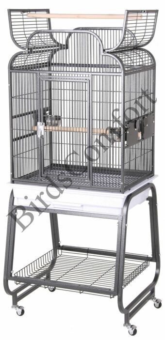 Hq Open Small Bird Cage With Cart Stand 22x17 Hq Bird