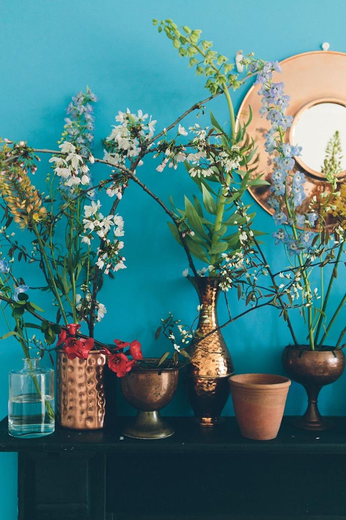 A wonderfully eclectic collection of vases and plant pots.