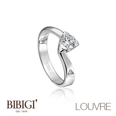 #Bibigì   Collezione Louvre   Gioielli in oro bianco e diamanti. Creazioni di sofisticata eleganza, una scelta di stile con diamanti naturali, colore G, purezza IF, disponibili in diverse carature.