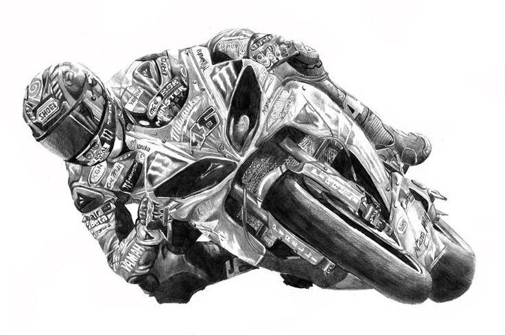 Tommy Bridewell 46 Milwaukee Yamaha British Superbikes drawing print
