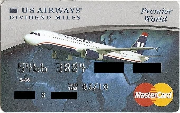 U.S Airways Dividend Miles (Barclays Bank, United States of America) Col:US-MC-0182