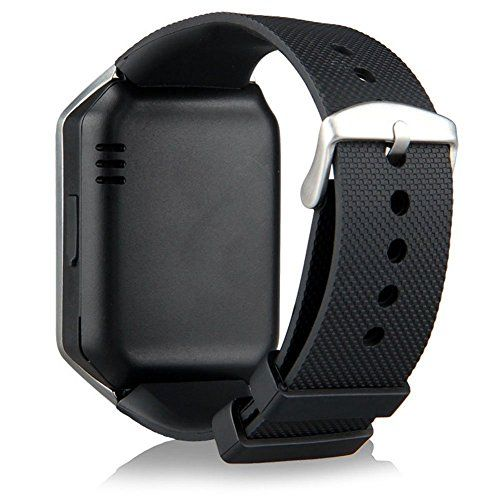 GZDL Bluetooth Smart Watch DZ09 Smartwatch Watch Phone Support SIM TF Card with Camera for Android IOS iPhone Samsung LG Phones Silver   Note: This Watch Is Bluetooth 3.0. All Functions Support Android 4.3 And Up Smart Phones. There is no APP for iPhone, It Support Answer & C