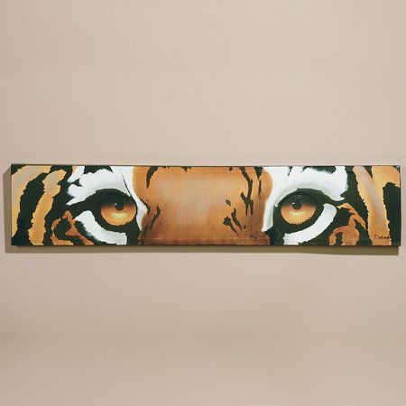 my house has lots of animal print everywhere... thinking of having my buddy Dave replicate this painting for my dinging room wall {stoked}. whatcha think?