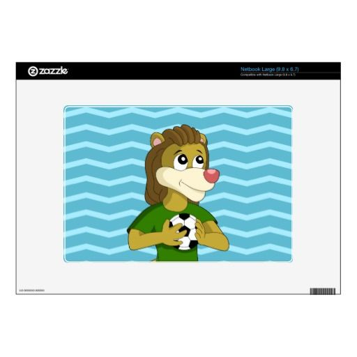 Cute lion cartoon netbook skin