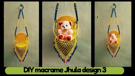 DIY simple Macrame Jhula  tutorial Design-3 | Macrame Art -| easy and simple macrame tutorial