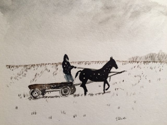 Have Watercolors Will Travel: The Baptism of the Horses