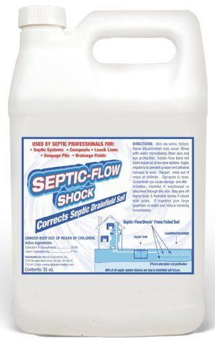 Septic-Flow Septic Drainfield Repair Treatment - Cleans Septic Drainfield and Hardened Soil, Deadpan, Septic tank treatment, Flood Damage, Saturated soil, Septic Flow.