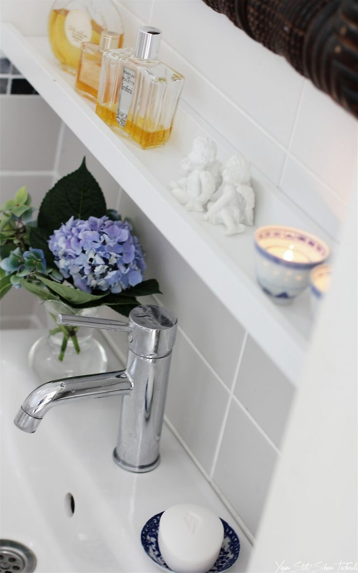 SheriChelle: Ikea Ribba picture ledges are awesome! They have so many uses for every room in your house....  Ribba ledge in the bathroom