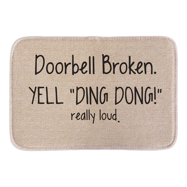 "Animals Welcome Doormats Funny Sign ""Doorbell Broken Yell Ding Dong"" Home Decorative Door Mats Short Plush Fabric Bathroom Mats -  Get free shipping. This shopping online sellers provide the best deals of finest and low cost which integrated super save shipping for Animals Welcome Doormats Funny Sign ""Doorbell Broken Yell Ding Dong"" Home Decorative Door Mats Short Plush Fabric Bathroom Mats or any product promotions.  I hope you are very lucky To be Get Animals Welcome Doormats Funny Sign…"