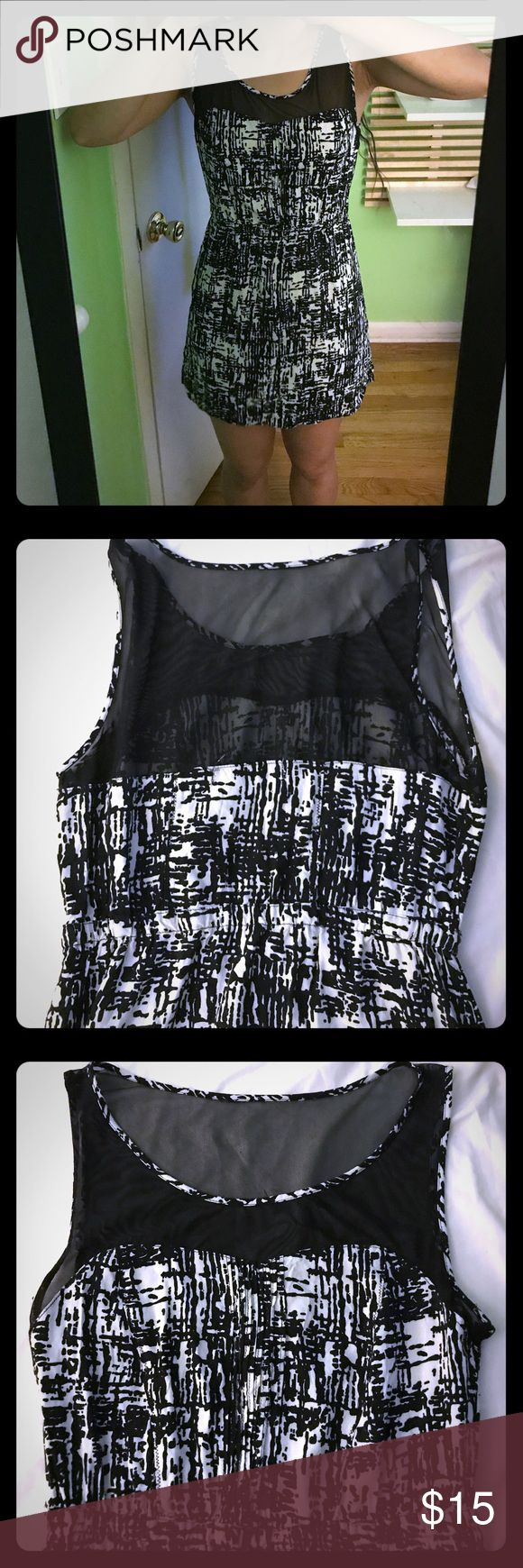 Selling this Forever 21 Cocktail Dress (black and white) on Poshmark! My username is: marqueln. #shopmycloset #poshmark #fashion #shopping #style #forsale #Forever 21 #Dresses & Skirts