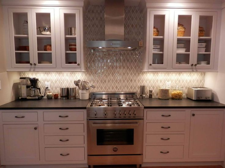 Arabesque Backsplash Kitchen Pictures