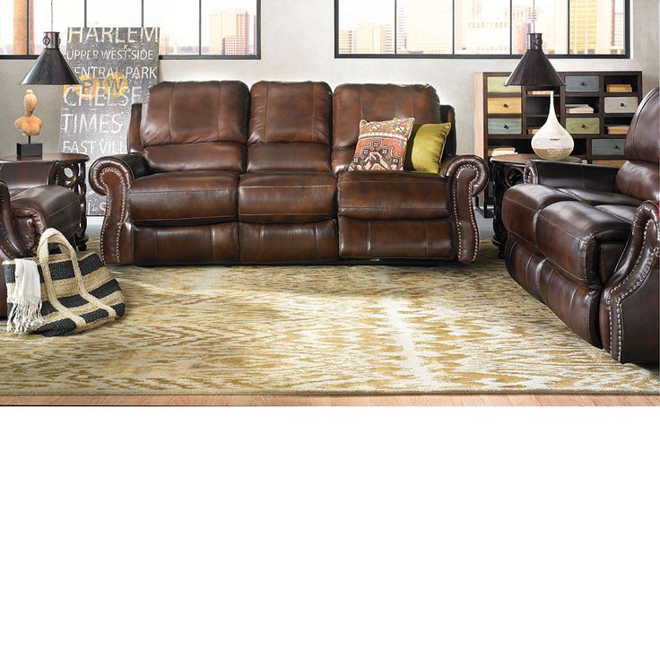 The Dump Furniture Handmade Dual Power Reclining Sofa
