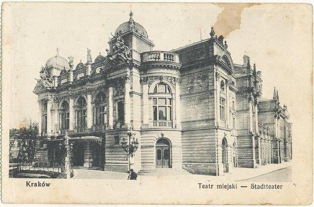 Teatr Miejski - Staadtheater, 1914, pocztówka