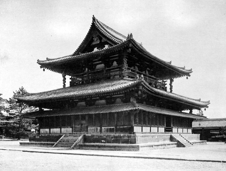 The Golden Hall of the Horyuji Temple, Ikaruga