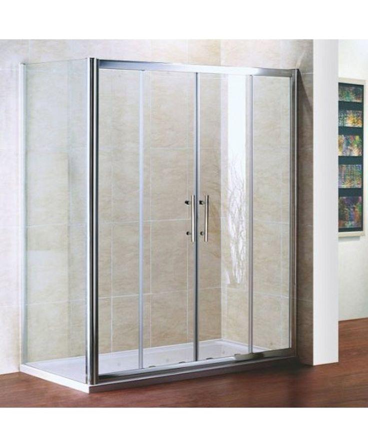 Perfect 700x700mm Double Sliding Door Shower Enclosure Corner Entry ...