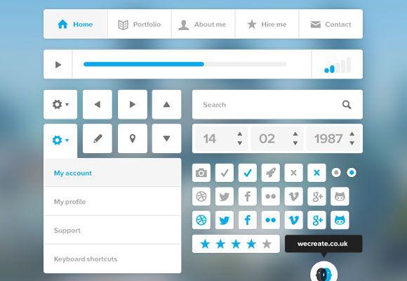 PSD Freebie: Super clean PSD UI kit
