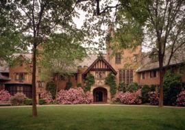 Stan Hywet Hall and Gardens.  A Tudor Revival house in Akron, Ohio.  I've been there once, but how I do long to go back someday.