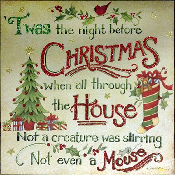 Priceless image within twas the night before jesus came printable