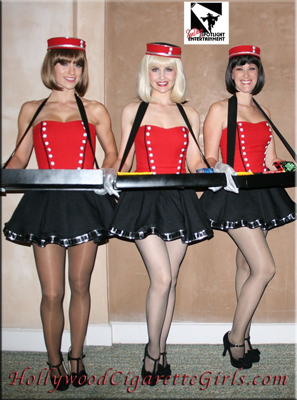 Vintage Cigarette Girls by San Diego Spotlight Entertainment