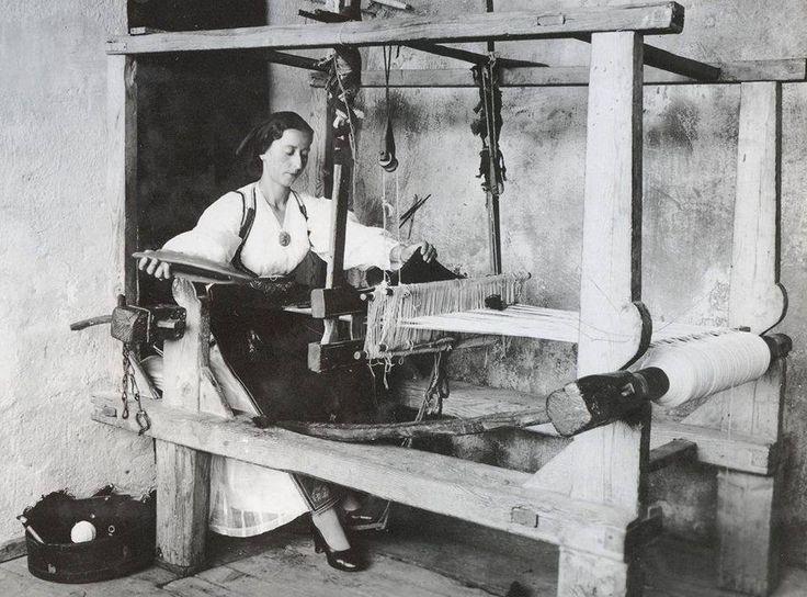 Αργαλειός,1930-1940 φωτ.Μαρία Χρουσάκη