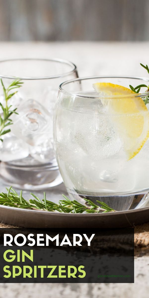 Simple and refreshing, Rosemary Gin Spritzers are the