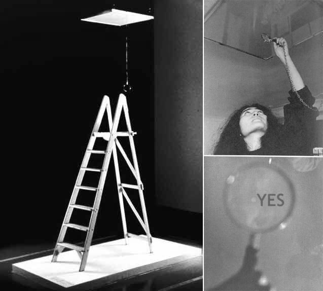 """Yoko Ono's """"Ceiling Painting"""" (What I've always referred to as """"Yes"""") is one of my favorite pieces of art ever."""