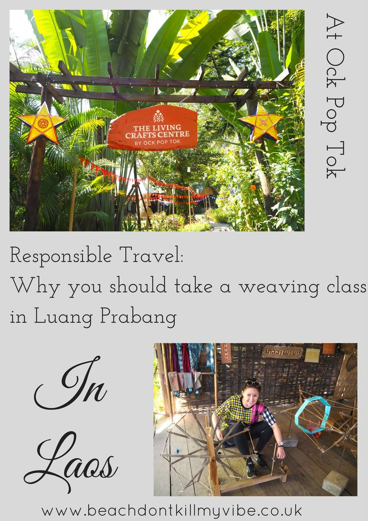 Learn all about the villages and cultures of Laos while taking a weaving class in Luang Prabang - one of the highlights of my trip!  #laos #backpacking #solotravel #responsibletravel #luangprabang