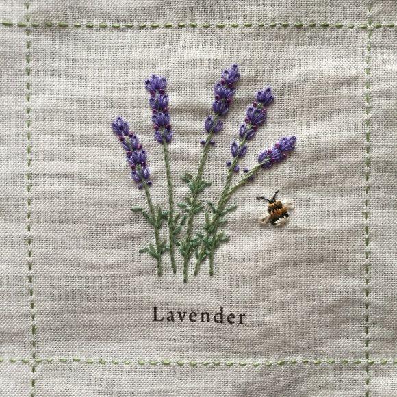 Lavender stitching