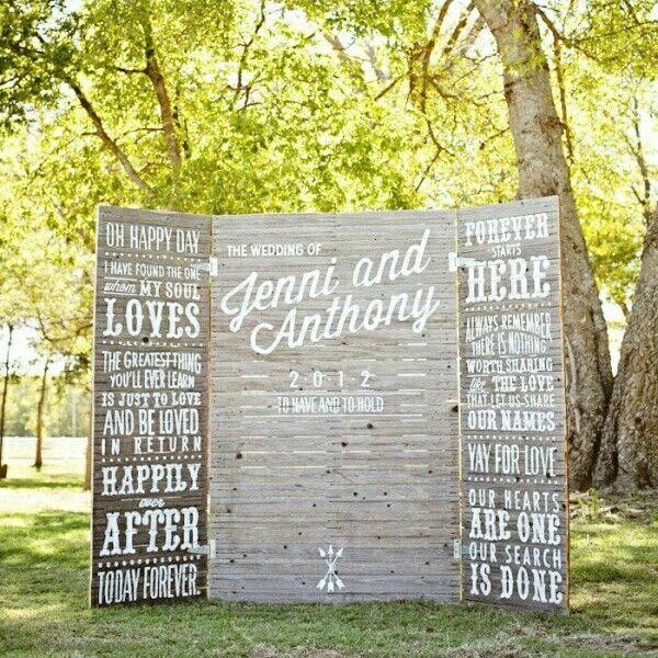 Great wedding backdrop