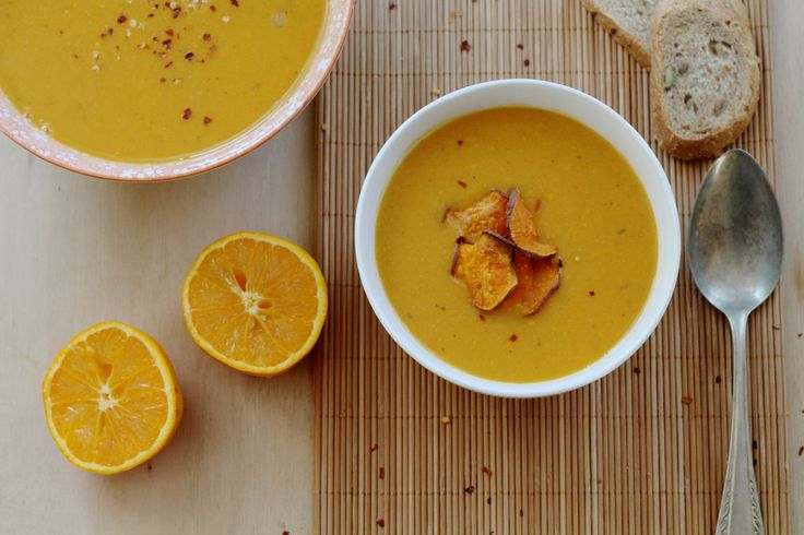 Zoete aardappelsoep met sinaasappel #soep #AfvallenUtrecht #Gewichtsconsulent_LeidscheRijn