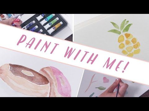 Paint With ME! Showing you a few really basic techniques for watercolor painting if you're just getting started or want to learn! SUGGESTED PRODUCTS: -------...