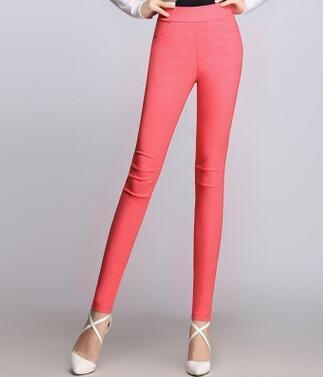 927bc9c03593d7 Candy Color Pants Women High Stretch Leggings 2019 Black Blue White Fe -  sheheonline