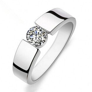 2017 hot verkoop fashion shiny CZ diamond 30% verzilverd mannen ringen/man bruiloft vinger ring gift drop verzending