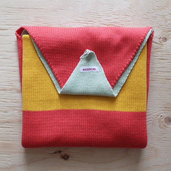 100% cotton baby blanket knitted in montreal - rousskine-