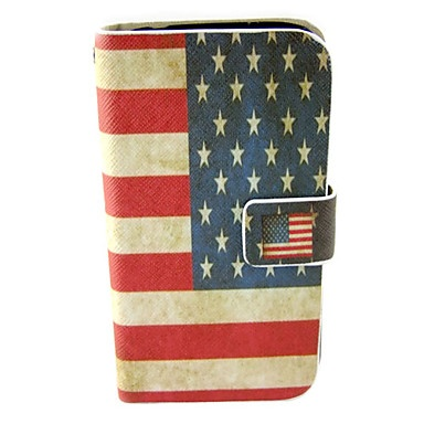 Nationale vlag Patroon Leather Full Body Case voor Samsun Galaxy S4 I9500