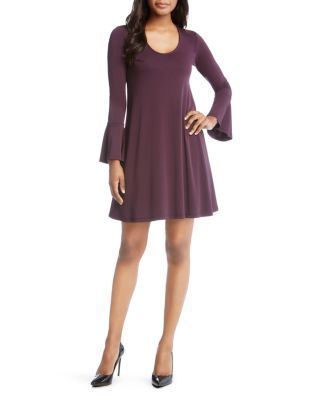 Karen Kane Taylor Bell-Sleeve Dress | Bloomingdale's