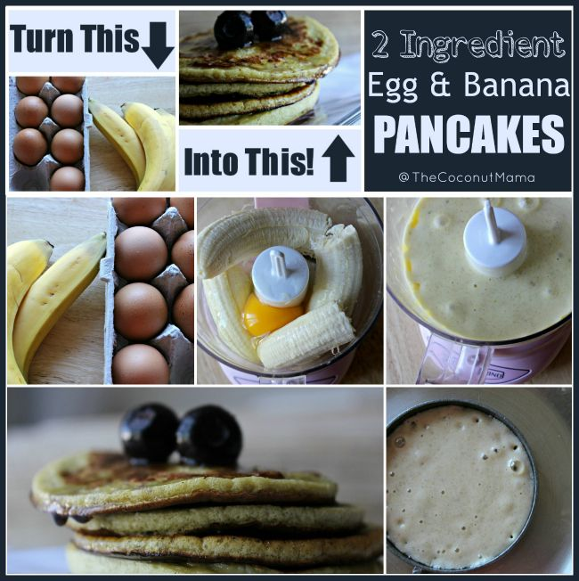 2 Ingredient Banana and Egg Pancakes - The Coconut Mama