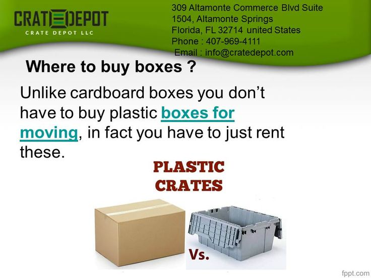 Where to buy boxes in Orlando ? Unlike cardboard #boxes you don't have to buy #plasticBoxes for #moving, in fact you have to just #rent these.
