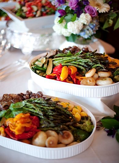 Family Style!  http://happily.io  #happily #wedding #catering #familystyle