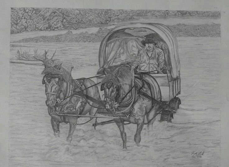 """Clearwater crossing"" Pencil art by Vicki Lind"