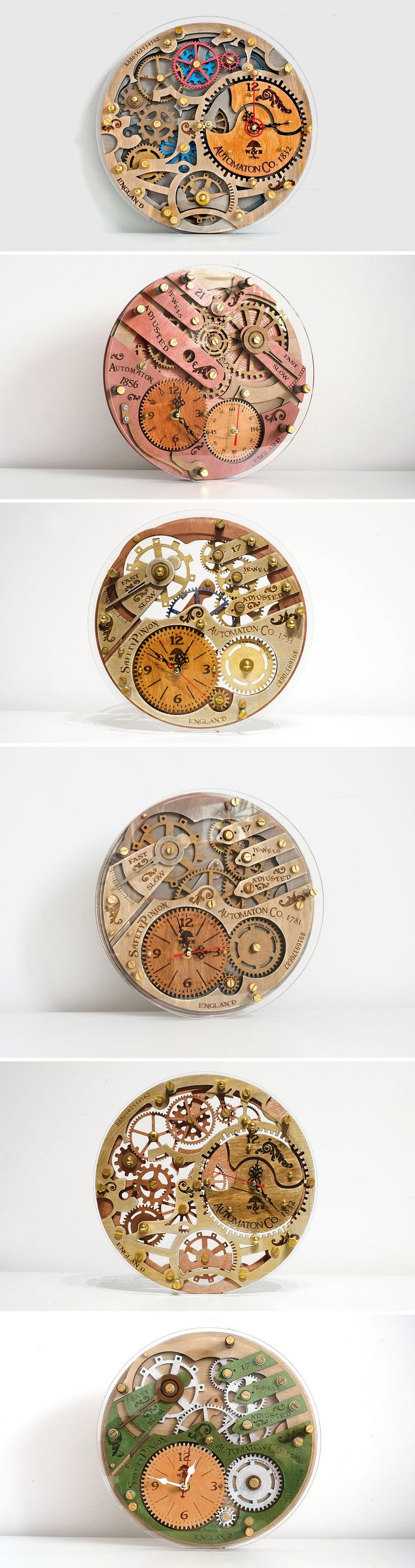 Wooden Steampunk Clock | Настенные часы https://www.livemaster.ru/wood-and-root