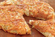 """Culinária Vip - Batata Rosti Gostosa, saborosa e crocante, a Batata Rosti ou Batata Suíça é um tradicional prato da região do Cantão de Berna, parte """"alemã"""" da Suíça. A pa"""