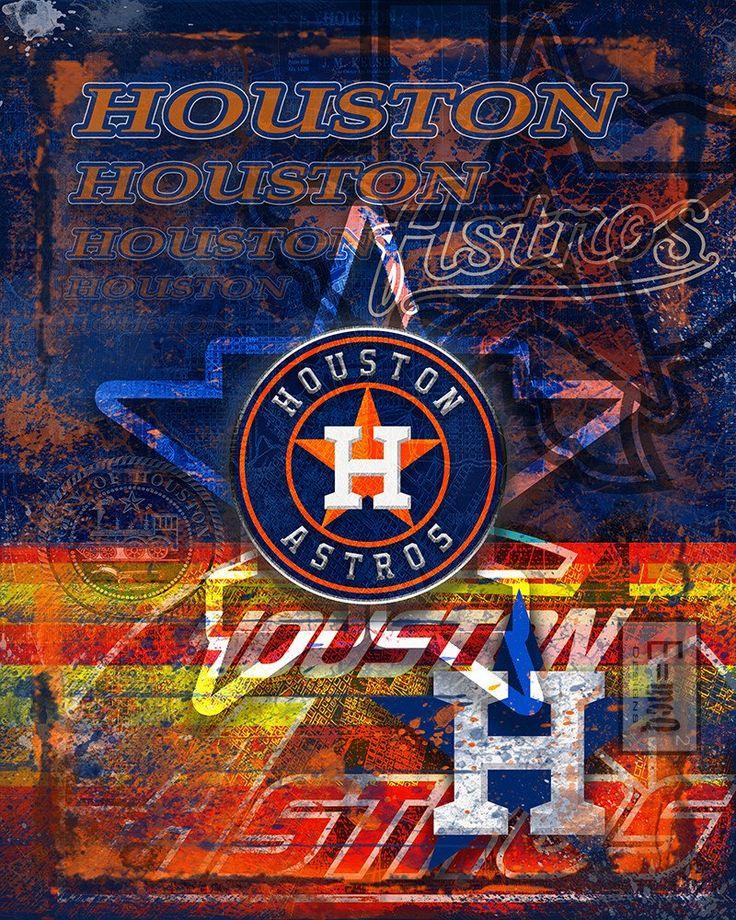 Houston Astros Poster Houston Astros Artwork Gift Astros