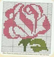 Rose x-stitch
