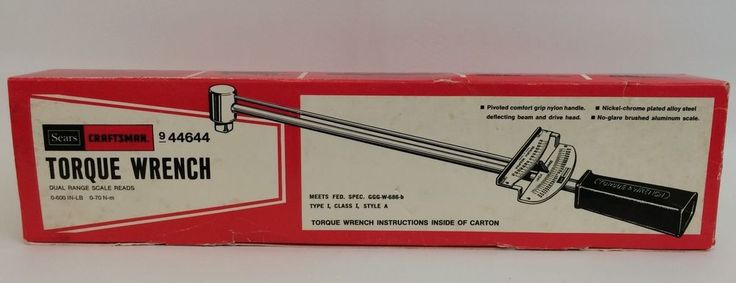 Craftsman Torque Wrench 44644 Vintage Sears 3/8 Inch Drive Box Instructions #Craftsman