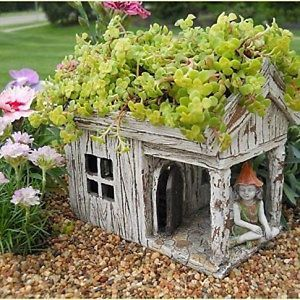 hobbit and gnome houses   ... Garden Fairy/Faerie Gnome,Hobbit, Wooden House Planter In/Outdoor