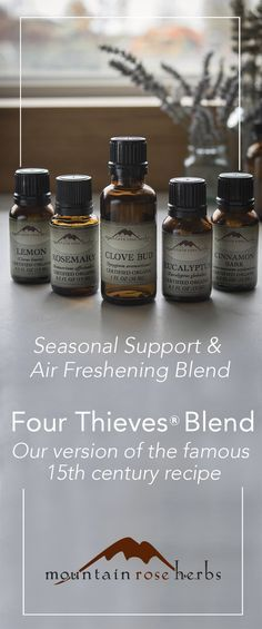 The Mountain Rose Blog   –  Mountain Rose Herbs' Version of Four Thieves® Oil Blend