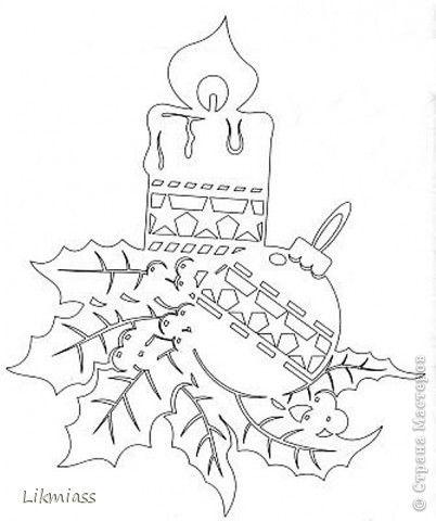 Декор предметов Поделка изделие Рождество Вырезание ПОКА НЕ ГАСНУТ СВЕЧИ Бумага фото 9